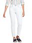 Le Jean Slim 7/8 Blanc Taille Mi-Haute, Femme Stature Standard