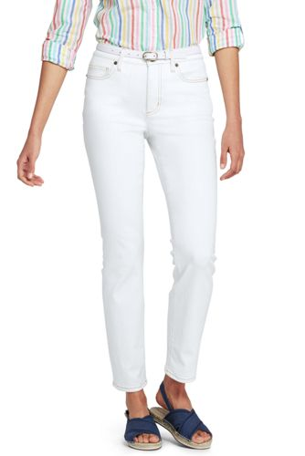 Women's Slim Ankle White Jeans