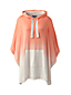 Women's French Terry Hooded Dip-dye Poncho
