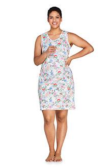 Women's Supima Sleeveless Patterned Nightdress
