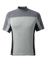 Men's Short Sleeve Mockneck Swim Tee Rash Guard