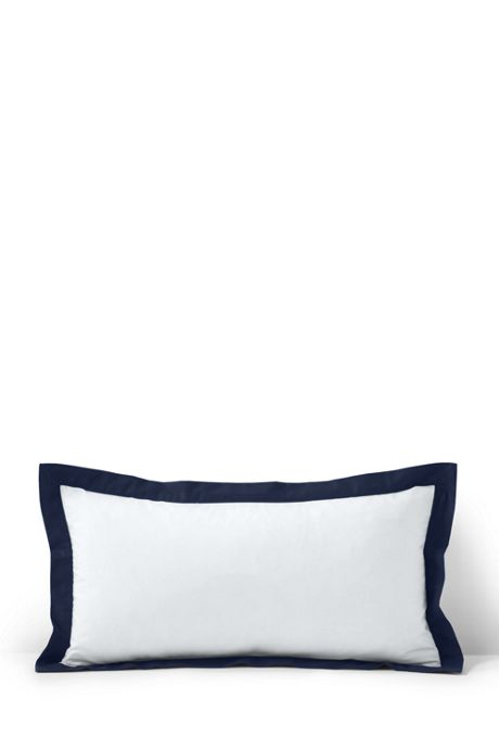 Percale Contrast Flange Decorative Pillow
