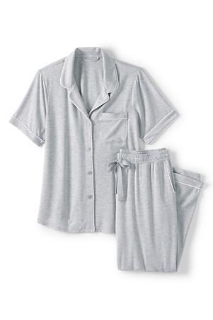 newest d941b 2ef08 Jersey Pyjama-Set aus Modal für Damen | Lands' End