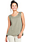 Women's Crochet Trim Linen Vest Top
