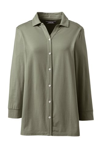 Women's Three-quarter Sleeve Shirt in Cotton/Modal
