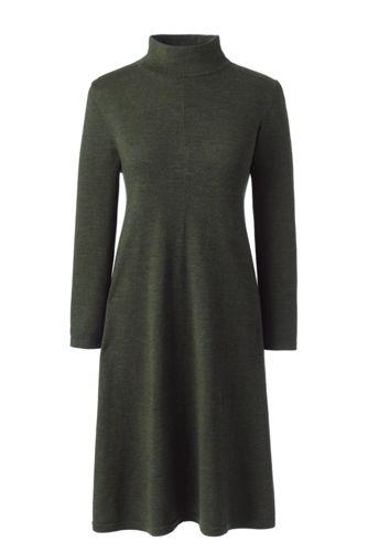 La Robe Pull Col Haut en Laine Mérinos, Femme Stature Standard