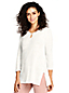 Women's Plus Crochet Trim Linen Top