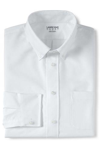 School Uniform Men's Adaptive Long Sleeve Oxford Dress Shirt