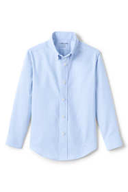 Little Kids Adaptive Long Sleeve Oxford Dress Shirt