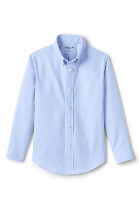 Kids Adaptive Long Sleeve Oxford Dress Shirt