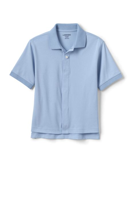 School Uniform Little Kids Adaptive Short Sleeve Interlock Polo Shirt