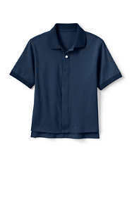 School Uniform Kids Adaptive Short Sleeve Interlock Polo