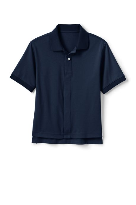 Little Kids Adaptive Short Sleeve Interlock Polo Shirt