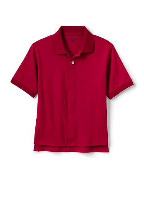 School Uniform Little Kids Adaptive Short Sleeve Interlock Polo