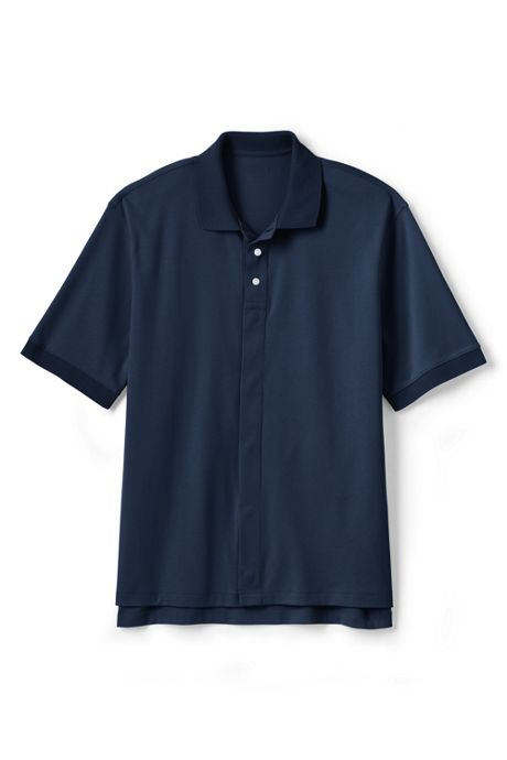 School Uniform Men's Adaptive Short Sleeve Interlock Polo