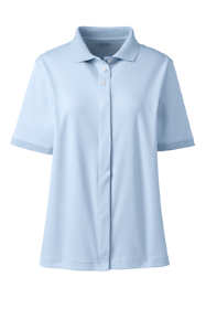 School Uniform Women's Adaptive Short Sleeve Interlock Polo Shirt