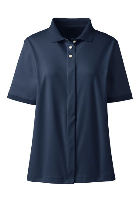 School Uniform Women's Adaptive Short Sleeve Interlock Polo