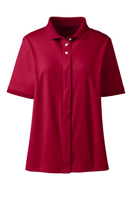 Women's Adaptive Short Sleeve Interlock Polo Shirt