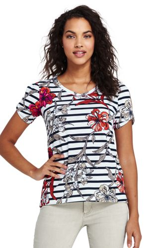 Cut-out-Shirt Floral für Damen