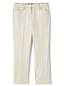 Women's Mid Rise Check Chino Cropped Trousers