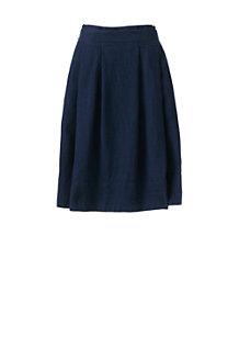 Leinen-Faltenrock für Damen