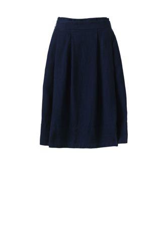 Women's A-line Linen Skirt