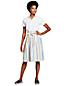 La Jupe Rayée Évasée en Lin, Femme Stature Standard