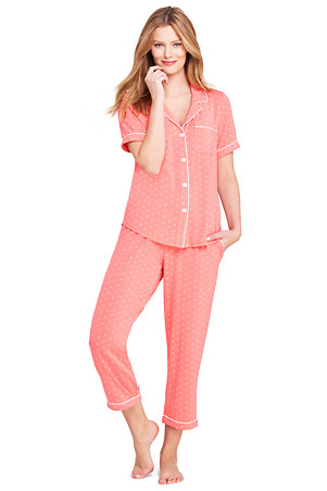 efa05742fe81d Women's Modal Short Sleeve Patterned Pyjama Set | Lands' End