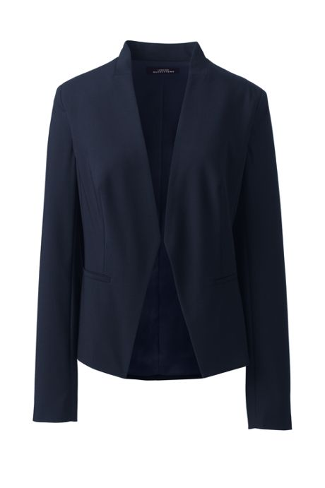 Women's Washable Wool Collarless Blazer