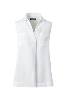 Women's Sleeveless Linen Top