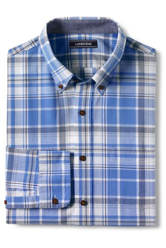 Men's Madras Check Long Sleeve Shirt