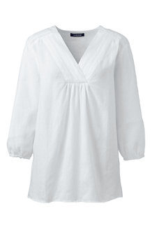 Women's V-neck Linen Top