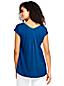 Le T-Shirt Col V à Plis, Femme Stature Standard