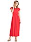 Women's Cap Sleeve Jersey Midi Dress