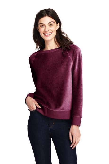 Women's Long Sleeve Velour Sweatshirt