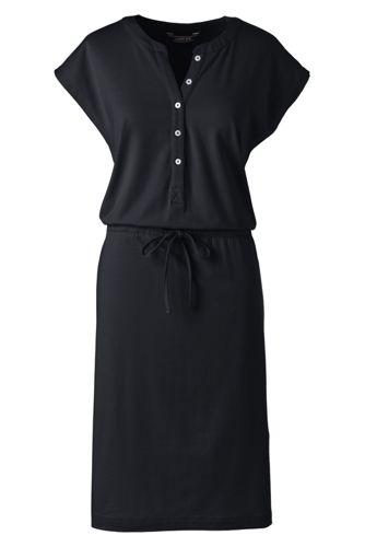 La Robe Henley en Coton Modal Stretch, Femme Stature Standard