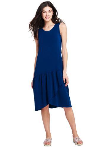 La Robe Mi-Longue Ourlet Portefeuille, Femme Stature Standard