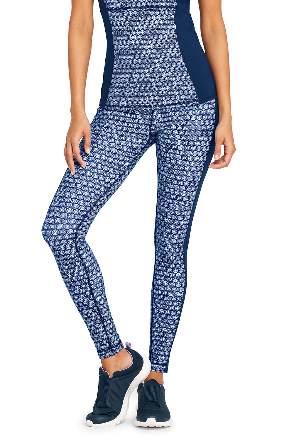 Women s Active High Waisted Yoga Leggings from Lands  End 3338e02772
