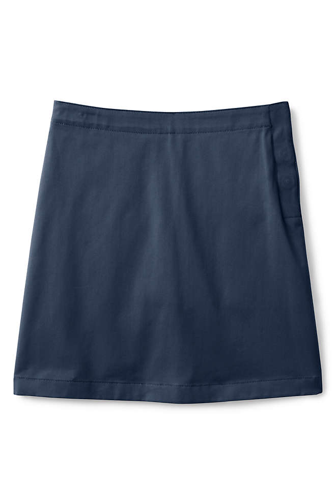School Uniform Girls Adaptive Blend Chino Skort, Front