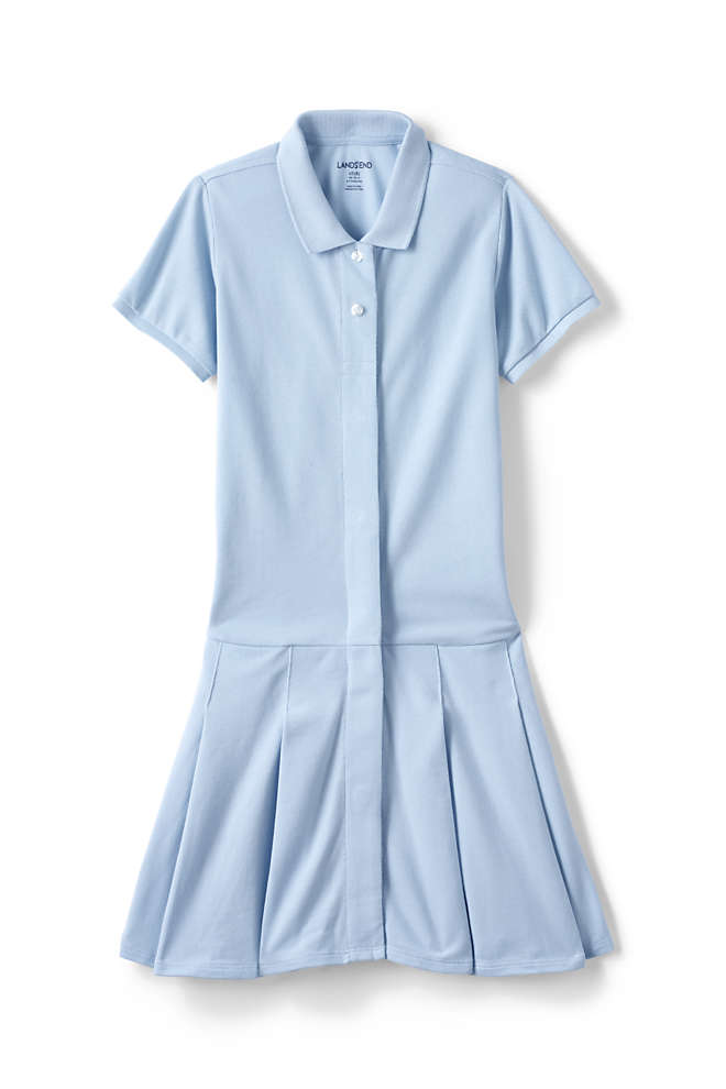 Girls Adaptive Mesh Polo Dress, Front