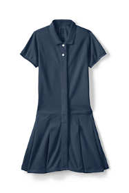 School Uniform Little Girls Adaptive Mesh Polo Dress