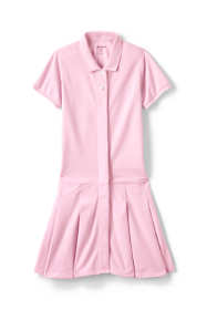 School Uniform Girls Adaptive Mesh Polo Dress