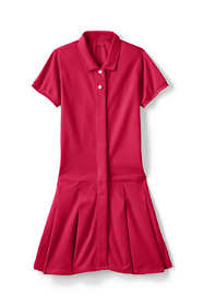 Little Girls Adaptive Mesh Polo Dress