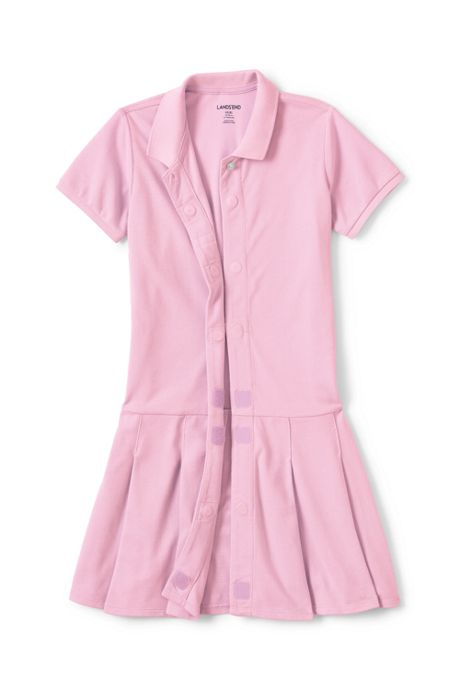 Girls Adaptive Mesh Polo Dress