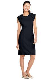 Women's Sleeveless Ponte Ruffle Dress