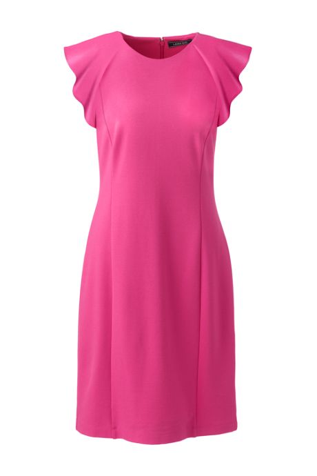 Women's Sleeveless Ponte Ruffle Dress
