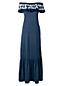 Women's Petite Jersey Maxi Dress With Frilled Neckline