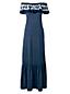 La Maxi-Robe Épaules Nues à Volants et Motifs, Femme Stature Petite