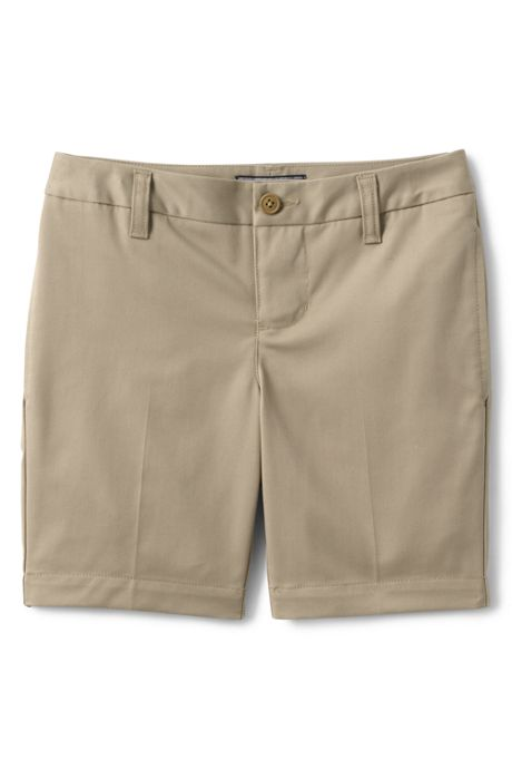 School Uniform Little Girls Adaptive Perfect Fit Blend Chino Shorts
