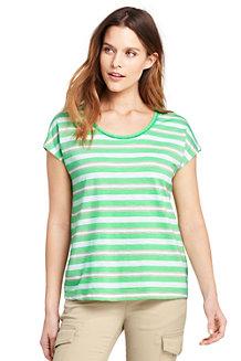 Gestreiftes Shirt aus Baumwolle/Modal für Damen